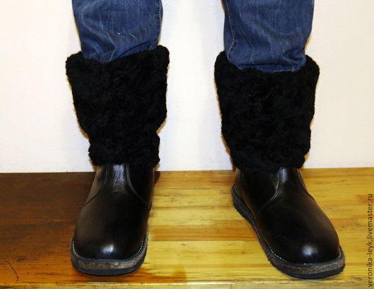 Обувь ручной работы. Ярмарка Мастеров - ручная работа. Купить Унты Мужские (короткие). Handmade. Черный, натуральная кожа, тепло