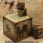 Для дома и интерьера handmade. Livemaster - original item For the first time! Cubes large - 15 cm. Handmade.