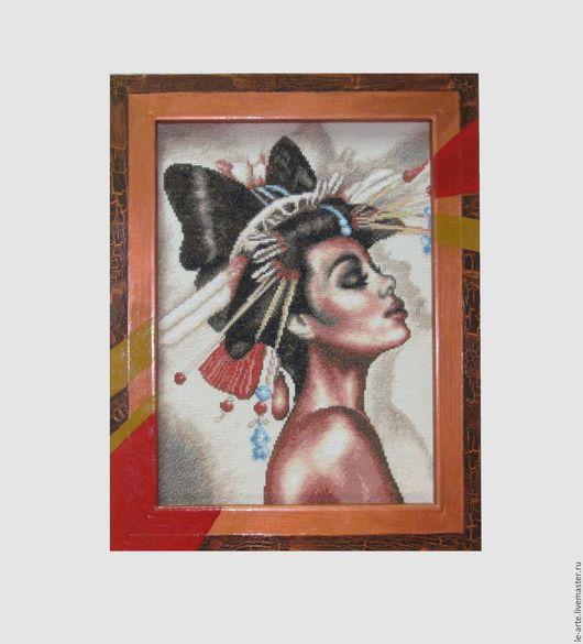"""Люди, ручной работы. Ярмарка Мастеров - ручная работа. Купить Картина """"НАОМИ"""". Handmade. Комбинированный, подарок, африка, акрил, кракелюр"""