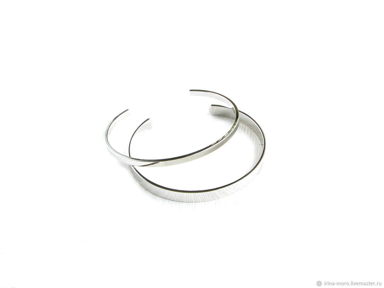 Silver set of bracelets 'Minimalism' metal bracelet, Bracelet set, Moscow,  Фото №1