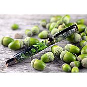 Канцелярские товары handmade. Livemaster - original item Roller Tourmaline Pen with magnetic Cap. Handmade.
