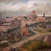 Картины и панно handmade. Livemaster - original item Picture: Landscape with Tamarit Castle, Tarragona, Ramon Casas Carbo, copy.. Handmade.