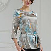"""Блузки ручной работы. Ярмарка Мастеров - ручная работа Шелковая блузка """"Элегантный образ"""". Handmade."""