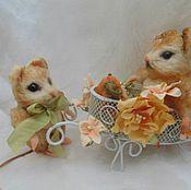 Куклы и игрушки ручной работы. Ярмарка Мастеров - ручная работа Влюбленные мышки. Handmade.