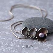 Украшения handmade. Livemaster - original item the pendant is made of Nickel silver and natural pearls