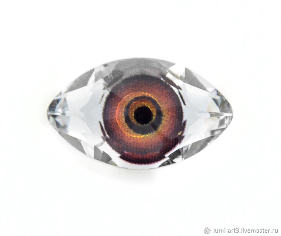 Eye 18х10.5мм Red-Brown Кристалл Сваровски Глаз карий, Кабошоны, Краснодар, Фото №1
