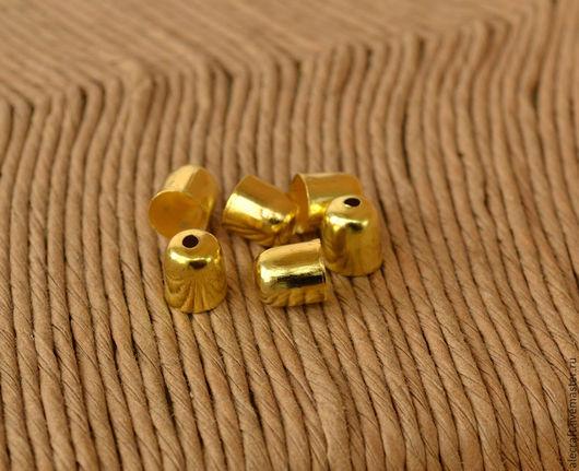 Для украшений ручной работы. Ярмарка Мастеров - ручная работа. Купить Концевик колпачок золото 6,5х6мм 10шт. Handmade.