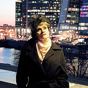 """Кашемировое черное пальто """"Жить в Нью-Йорке"""""""