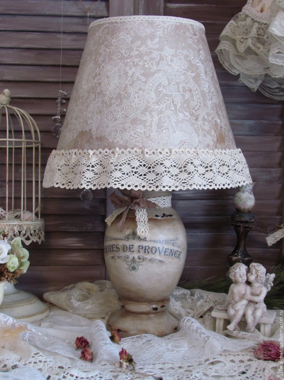 Декупаж абажура настольной лампы