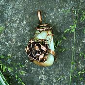 Украшения ручной работы. Ярмарка Мастеров - ручная работа Кулон с розочкой из меди. Handmade.