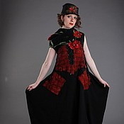 """Одежда ручной работы. Ярмарка Мастеров - ручная работа Платье """"Маки на черном"""". Handmade."""