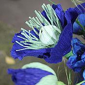 Цветы и флористика ручной работы. Ярмарка Мастеров - ручная работа Синий букет......... маки с конфетами. Handmade.