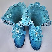 Обувь ручной работы handmade. Livemaster - original item Slippers felted. Boots for the house of Marquis. Handmade.
