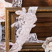 Свадебный салон ручной работы. Ярмарка Мастеров - ручная работа Кружевная эластичная подвязка. Handmade.