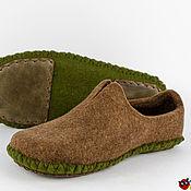 """Обувь ручной работы. Ярмарка Мастеров - ручная работа Тапки из войлока """"Чероки"""". Handmade."""