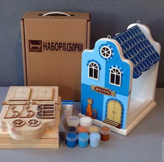 Экстерьер и дача ручной работы. Ярмарка Мастеров - ручная работа. Купить Кормушка для птиц EUROPE-BLUE (набор-конструктор +краски). Handmade.