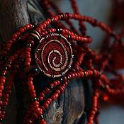 """Украшения ручной работы. Ярмарка Мастеров - ручная работа Колье """"Красное"""". Handmade."""