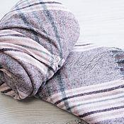 Аксессуары handmade. Livemaster - original item Grey-pink checkered handkerchief made from Italian fabric. Handmade.