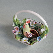 Для дома и интерьера ручной работы. Ярмарка Мастеров - ручная работа Корзиночка с петушком. Handmade.