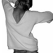 """Одежда ручной работы. Ярмарка Мастеров - ручная работа Вязаный джемпер бойфренда """"Белый лёд"""". Handmade."""
