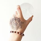 handmade. Livemaster - original item Ethno boho bracelet with Rudraksha and glass. Handmade.