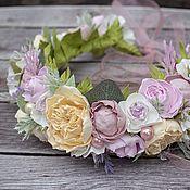 Народные украшения ручной работы. Ярмарка Мастеров - ручная работа Ободок с цветами,венок из цветов,веночек из фоамирана для невесты. Handmade.