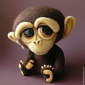 Куклы и игрушки ручной работы. Ярмарка Мастеров - ручная работа Маленький обезьянин. Handmade.