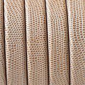 Материалы для творчества ручной работы. Ярмарка Мастеров - ручная работа Кожаный шнур регализ, бежевый, фактурный. Испания. Handmade.