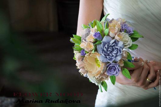 Букеты ручной работы. Ярмарка Мастеров - ручная работа. Купить Букет невесты. Handmade. Сиреневый, букет невесты из глины