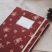 Канцелярские товары handmade. Livemaster - original item Notepad with fabric cover / Sketchbook / daily Diary / Planner. Handmade.
