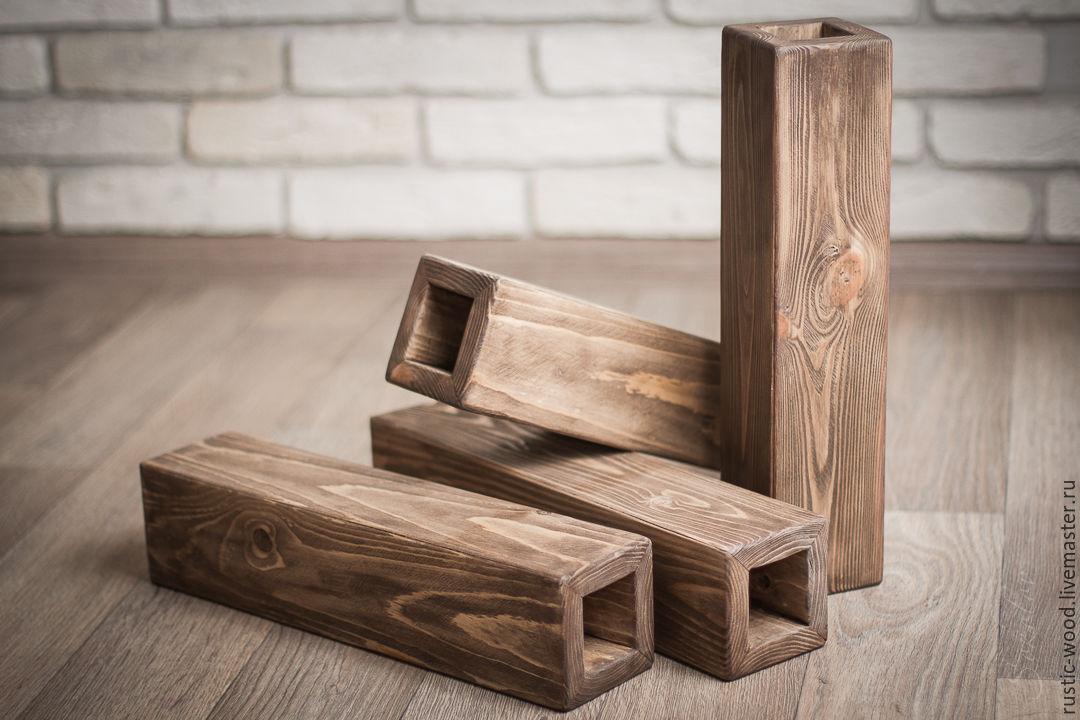 Ваза для цветов деревянная