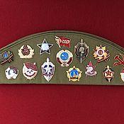 Аксессуары handmade. Livemaster - original item Soldier`s cap of the USSR with emblems. Handmade.