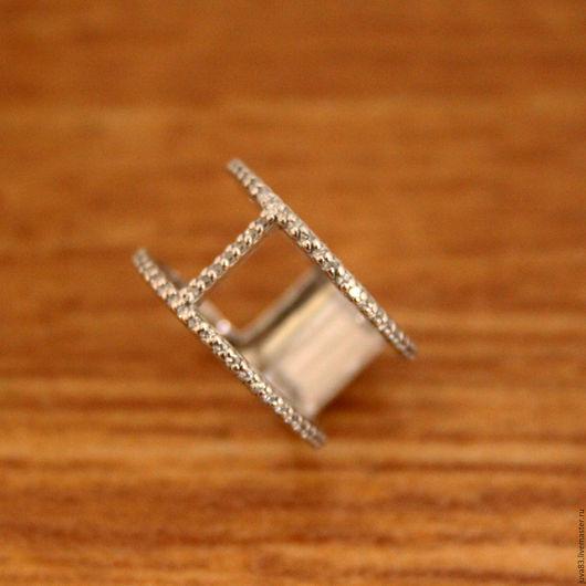 Кольца ручной работы. Ярмарка Мастеров - ручная работа. Купить Серебряное кольцо Вектор, серебро 925 пробы. Handmade. Серебряный