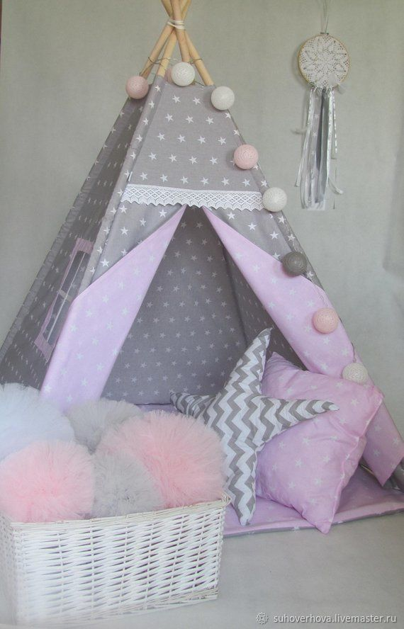 Nursery handmade. Livemaster - handmade. Buy Vig You with pillows-stars.Baby, house, natural materials, toy house