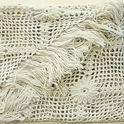 Аксессуары handmade. Livemaster - original item Shawl knitted Irada 200x160x160 light beige with fringe #896. Handmade.