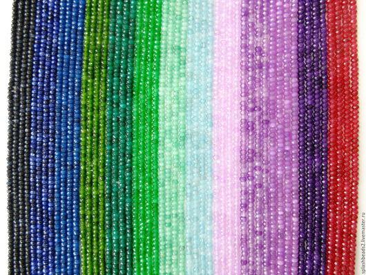 Для украшений ручной работы. Ярмарка Мастеров - ручная работа. Купить Агат рондель 4Х2мм 13 цветов нить. Handmade.