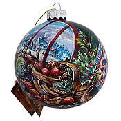 """Подарки к праздникам ручной работы. Ярмарка Мастеров - ручная работа Елочный шар """" Пушистый  любимец"""". Handmade."""