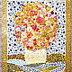 Panel in the kitchen Sunny bouquet. Semi-precious stones, Murano glass, Pictures, St. Petersburg,  Фото №1