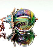 Украшения ручной работы. Ярмарка Мастеров - ручная работа Кулон Бим-Бом лэмпворк. Handmade.