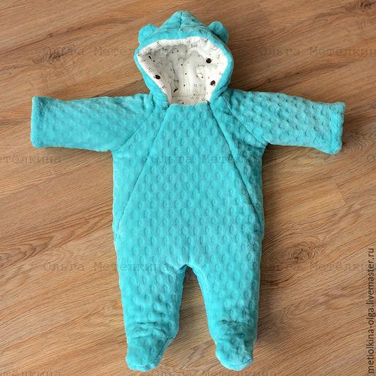 Одежда ручной работы. Ярмарка Мастеров - ручная работа. Купить Комбинезон для новорожденного. Handmade. Морская волна, комбинезон летний