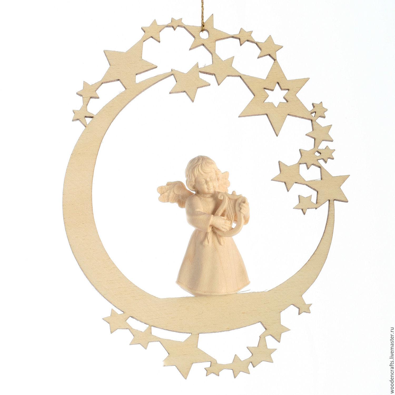 """Елочная игрушка """"Луна с ангелом"""", Елочные игрушки, Москва,  Фото №1"""