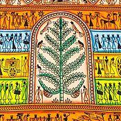 Покрывала ручной работы. Ярмарка Мастеров - ручная работа Покрывало декоративное с рисунком «Мотивы Востока». Handmade.