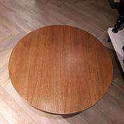 Столы ручной работы. Ярмарка Мастеров - ручная работа Круглая столешница из шпона дуба. Handmade.