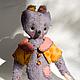 Мишки Тедди ручной работы. Ярмарка Мастеров - ручная работа. Купить Жером. Handmade. Весна, рыжий, горошек, немецкая вискоза