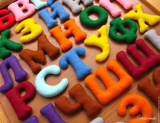 Развивающие игрушки ручной работы. Ярмарка Мастеров - ручная работа. Купить Алфавит из фетра. Handmade. Развивающая игрушка, для ребенка, фетр