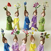 Куклы и игрушки ручной работы. Ярмарка Мастеров - ручная работа Цветочные эльфики в ассортименте. Handmade.