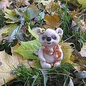 Куклы и игрушки ручной работы. Ярмарка Мастеров - ручная работа Мышонок Ли-Ли войлочный. Сухое валяние мышь. Валяная мышка .Игрушки жи. Handmade.