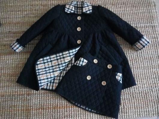 """Одежда для девочек, ручной работы. Ярмарка Мастеров - ручная работа. Купить Пальто детское """"Маленькая леди"""" черное. Handmade. Черный"""