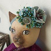 Куклы и игрушки ручной работы. Ярмарка Мастеров - ручная работа Chiara / Кьяра - Фарфоровая кошка. Handmade.