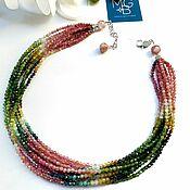 Украшения handmade. Livemaster - original item Tourmaline necklace